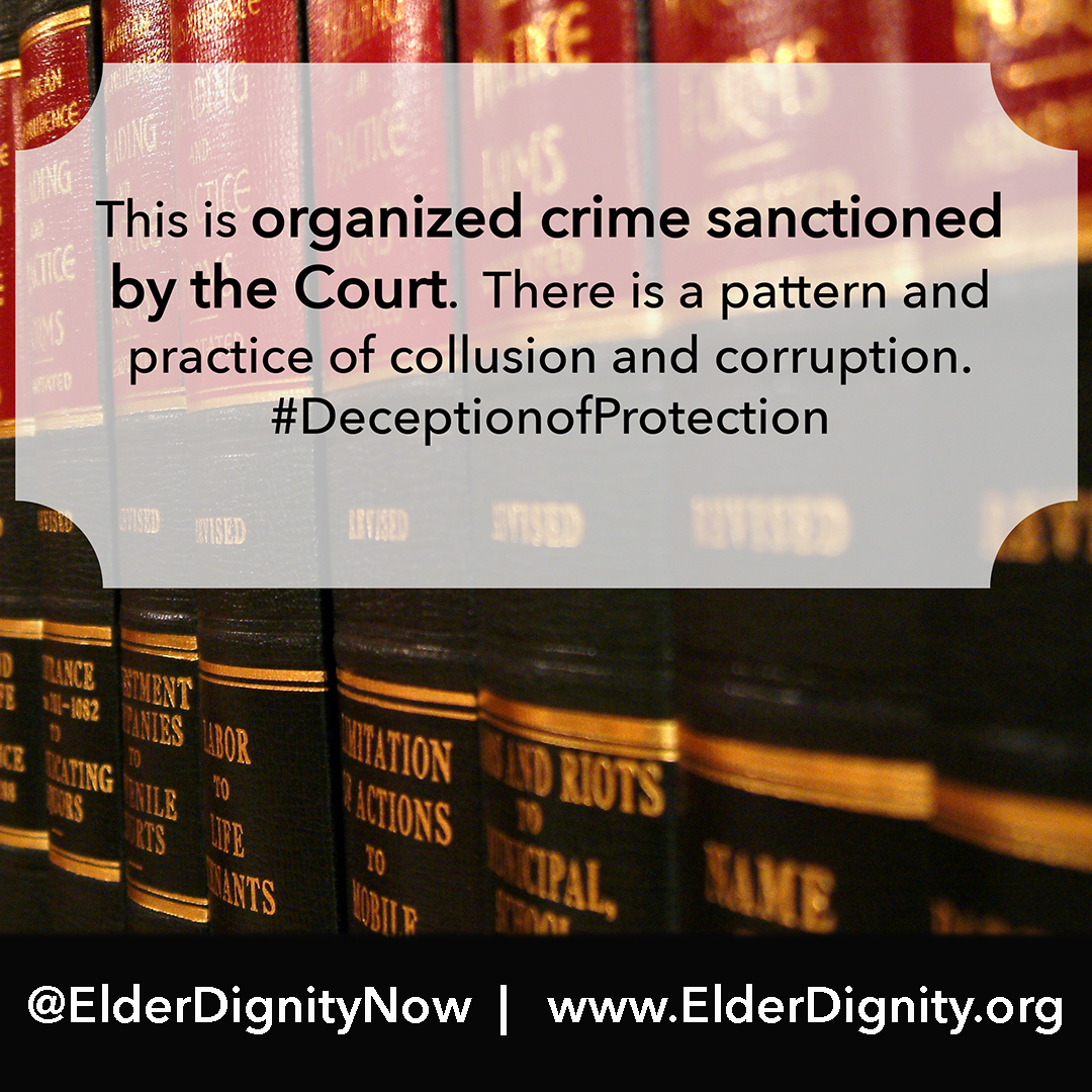 Guardianship is organized crime sanctioned by the court.