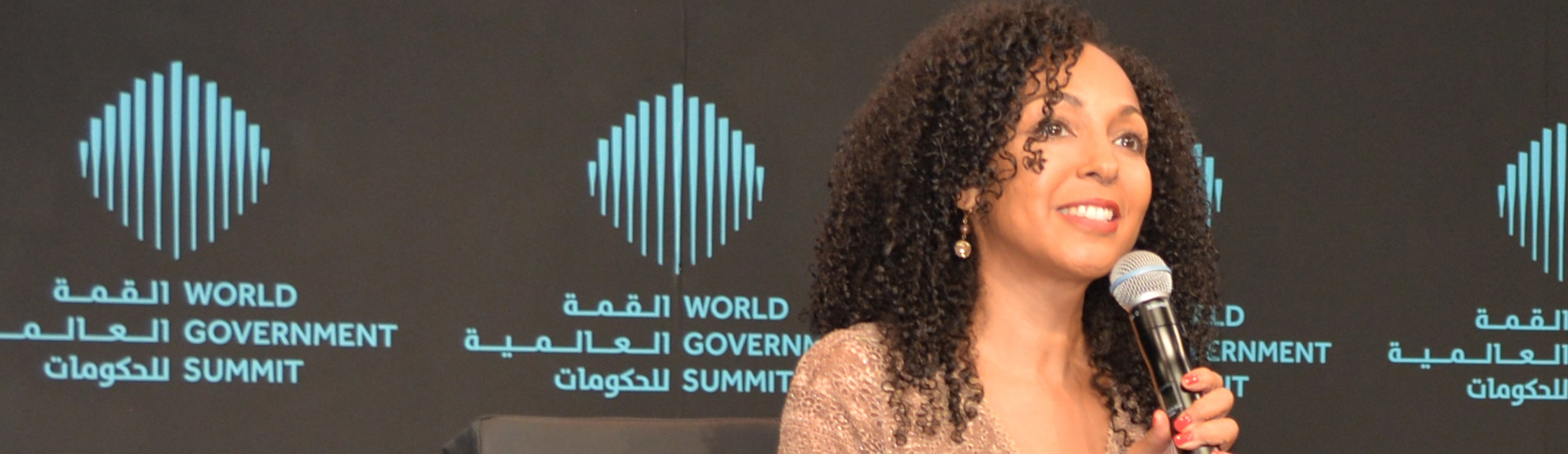 Teresa Kay-Aba Kennedy at the World Government Summit in Dubai - 2017