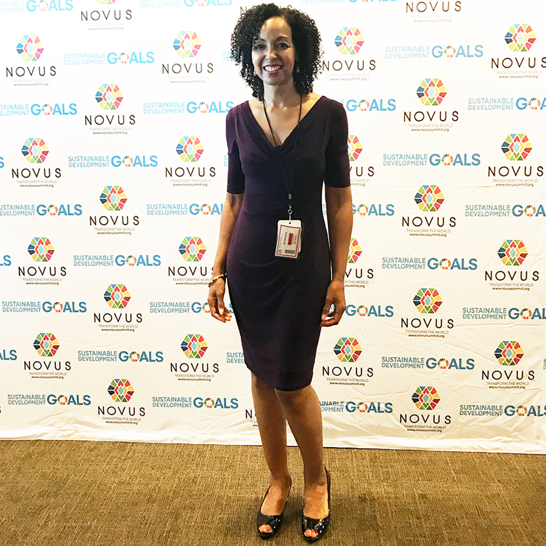Teresa Kay-Aba Kennedy at the Novus Summit at the United Nations in New York - July 20, 2019