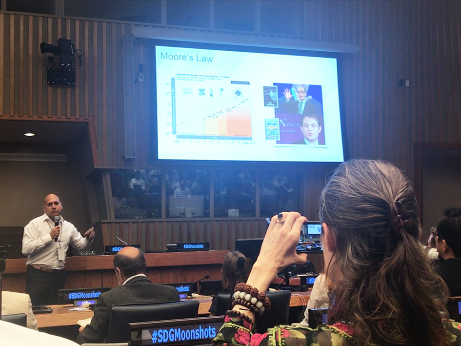Salim Ismail at the Novus Summit at the United Nations in New York - July 20, 2019
