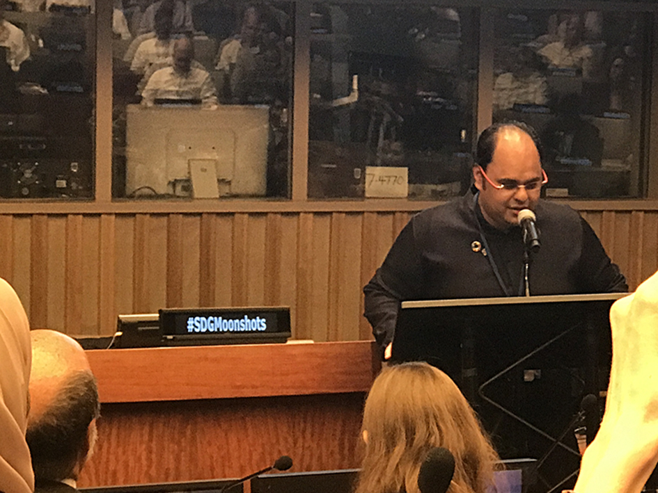 Kunal Sood at the Novus Summit at the United Nations in New York - July 20, 2019