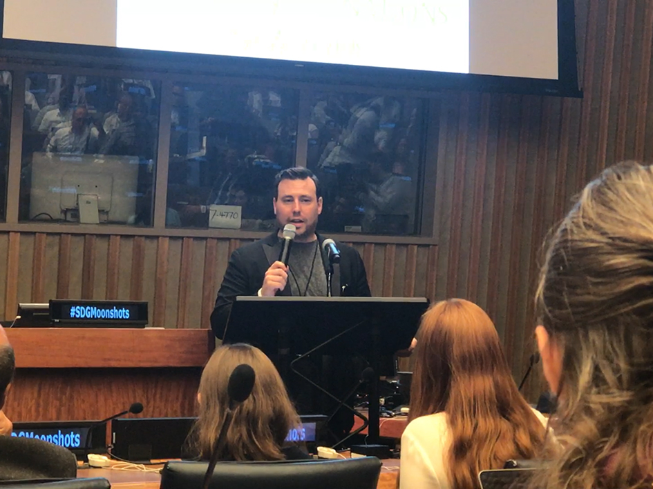 Dominic Kalms at the Novus Summit at the United Nations in New York - July 20, 2019