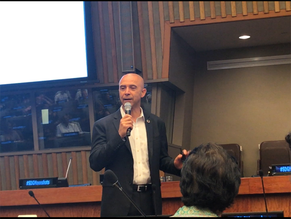 David Roberts at the Novus Summit at the United Nations in New York - July 20, 2019